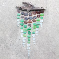 Sea Glass & Driftwood Mobile Brown Green and by TheRubbishRevival