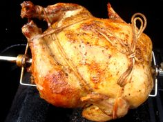 I am sure there are other ways to rotisserie a chicken but here is how I do it ~ very easy! About 5 or 6 hours before starting the grill, I clean a 4 or 5 pound chicken. In my experience, a chicken…