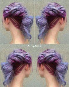 Magenta to Lilac hair