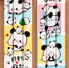colorfulKamio Mochi panda animal pencil with charm