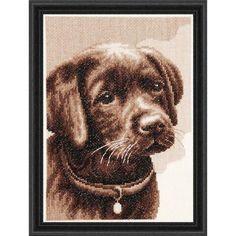 Labrador Puppy Counted Cross-Stitch Kit - Herrschners