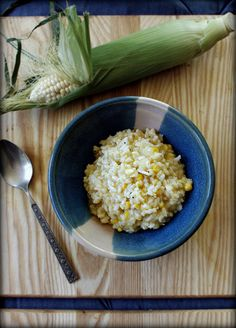 sweet corn risotto - Gluten Free Girl and the Chef