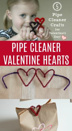Let's make Valentine's easy this year with these super simple and fun Pipe Cleaner Valentine Hearts for kids!