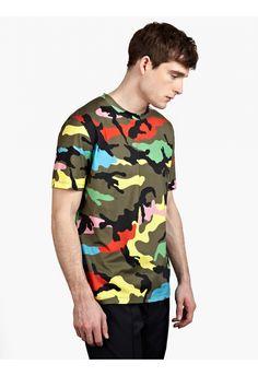 Valentino Men's Camouflage Printed T-Shirt