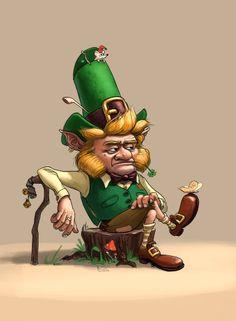Dwarf, leprechaun, gnome. by Maxim Kalyakin, via Behance