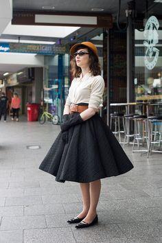 Vintage glamour. FOUREYES - New Zealand Street Style Fashion www.eyeseyeseyese...