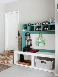 garage mudroom area | Refresh Restyle