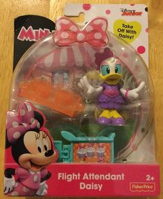 Fisher-Price Disney Minnie Mouse Flight Attendant Daisy Duck NEW #FisherPrice