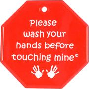 My Tiny Hands Please Wash Sign, Red