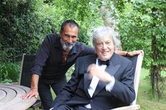 Oscar winning playwrite Sir Tom Stoppard in the Garden with Gary at Oak House Gatcombe Horse Trials, Cotswolds Hotels, Hotel Comparison, 25 Beautiful Homes, Air Tattoo, Silver Tea Set, Oscar Wins, Country Living Magazine, Interiors Magazine