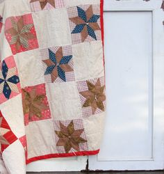 Vintage Quilt  Patchwork Handmade Quilt  by TheMixingBowlOnline