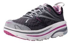 Womens Hoka One One Bondi 2 Running Shoe. This is a GREAT shoe for those needing strong support for long distance running.