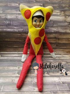 Pizza Elf Costume ~ Elf Prop ~ Elf Clothing Donut Costume, Pizza Costume, Elf Costume, Costumes, Christmas Crafts Sewing, Christmas Elf, Sewing Crafts, Elf On The Self, The Elf