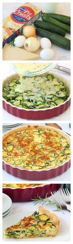 Use up summer zucchini in this savory make-ahead veggie pie! @roxanasbaking
