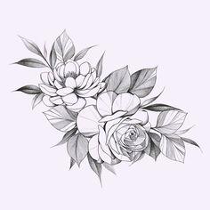 Mandala Tattoo Design, Flower Tattoo Designs, Flower Tattoos, Flower Designs, Rose Sketch, Dibujos Tattoo, Plant Tattoo, Dark Art Drawings, Tattoo Feminina