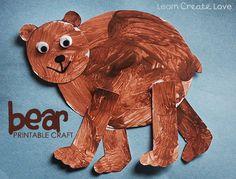 { Printable Bear Craft }