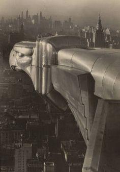 Margaret Bourke-White. Ornamental Gargoyle, Chrysler Building. 1934 -- Gelatin silver print
