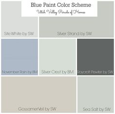 Blue Paint Color Scheme. Whole house painted in soft grays, Blue grays, soft blues and soft greens. Site White by Sherwin Williams, Silver Strand by Sherwin Williams, Novermber Rain by Sherwin Williams, Silver Crest by Sherwin Williams, Roycroft Pewter by Sherwin Williams, Gossamer Veil by Sherwin Williams. Sea Salt by Sherwin Williams Whole House Blue and Grey Color Scheme. Whole house color scheme. #BluePaintColorScheme #WholehousePaintColors #softgrays #Bluegrays #softblues…