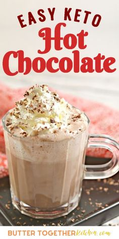 Low Carb Drinks, Low Carb Desserts, Low Carb Recipes, Keto Hot Chocolate Recipe, Chocolate Butter, Best Hot Chocolate Recipes, Hot Chocolate Coffee, Keto Pudding, Keto Friendly Chocolate