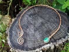 Celtic copper braided torc necklace by LughAislingCelticArt
