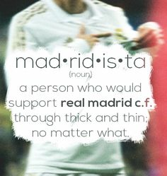We are Madrid! Im a madridista! #HalaMadrid