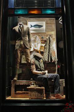The Aspen store of Ralph Lauren....the windows seem to  evoke the spirit of an outdoor adventure