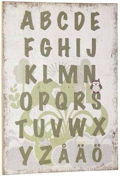 Alfabetstavla från Pumpkin, Kids Concept.