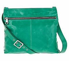 Hobo Lorna Leather Crossbody Bag with Front Zipper Pocket