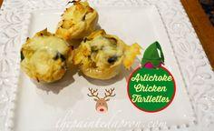 Chicken Artichoke Tartlettes  - thepaintedapron.com