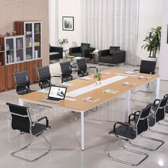 Modern Steel Frame Support Persons Conference Table Hot Sale - Large conference table for sale