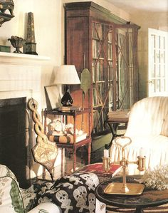 Albert Hadley's living room in Southport CT