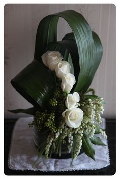 Corporate flowers, corporate flower centerpiece, add pic source on comment and we will update it. can create this beautiful flower look. Church Flower Arrangements, Church Flowers, Funeral Flowers, Beautiful Flower Arrangements, Floral Arrangements, Beautiful Flowers Pictures, Unique Flowers, White Flowers, Small Flowers