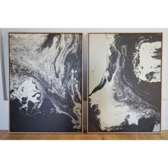 Monochrome Stretched Framed Canvas Prints | Pair