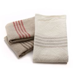 striped linen towels
