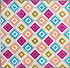 Downtown Cabin Quilts from Log Cabin Quilts–20 Modern Log Cabin Quilts Book by Natalia Bonner and Kathleen Whiting as seen on the TV Show Sewing With Nancy with Host Nancy Zieman.
