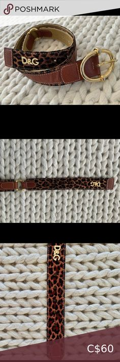 Dolce & Gabbana Gold Leopard Print Belt Authentic. Plenty of life left, great belt styled with jeans. Dolce & Gabbana Accessories Belts Other Accessories, Women Accessories, Wide Leather Belt, Belt Buckles, Belts, Gold, Closet, Life, Things To Sell