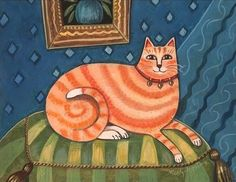 FASHIONISTA CAT PRINT Designer Cat in a by SeaGardenCottage