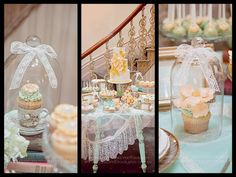 Party Inspirations: Whimsical Peach & Mint Wedding by Kiss My Cakes