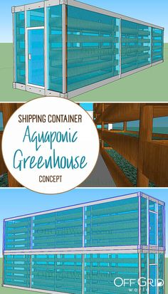 Vertical aquaponic farming inside shipping containers - a design concept showing how this could be done