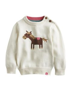BABY PIPPA Knitted Intarsia Jumper - neigh neigh sweater!