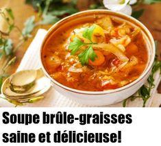 Soupe brûle-graisses saine et délicieuse! - Santé Nutrition