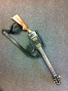 Gun guitar / Оригинальная гитара, корпус который стилизирован под оружие