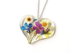 Garden Flowers Necklace SECONDS English Garden by JustKJewellery, £12.00