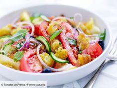 Salade panzanella de tomates : découvrez les recettes de cuisine de Femme Actuelle Le MAG
