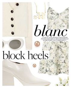 """Step Up: Block Heels"" by cultofsharon ❤ liked on Polyvore featuring Marni, Zimmermann, Acne Studios, NDI, Jennifer Zeuner and Bloomingdale's"