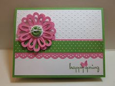 Spring card @Kate Mazur Mazur Mazur Glancy you could make that flower on your cricut!