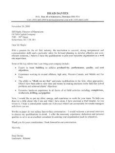 oil field supervisor cover letter sample