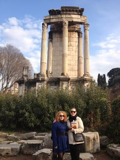 The Vesta Tempel in Rome (forum romanum)