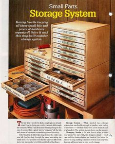 Small Parts Storage System Plans - Workshop Solutions