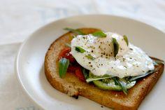 ffoodd: lipsmackingfood: Poached eggs on toast | Bon Appétit ...